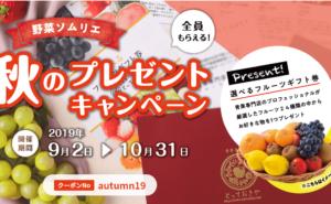 野菜ソムリエ 2019秋のキャンペーン