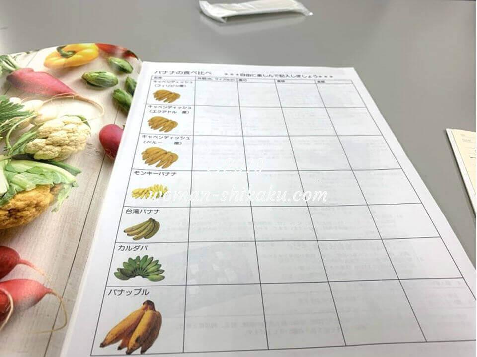 野菜ソムリエ資格 説明会 バナナ食べ比べワークショップ
